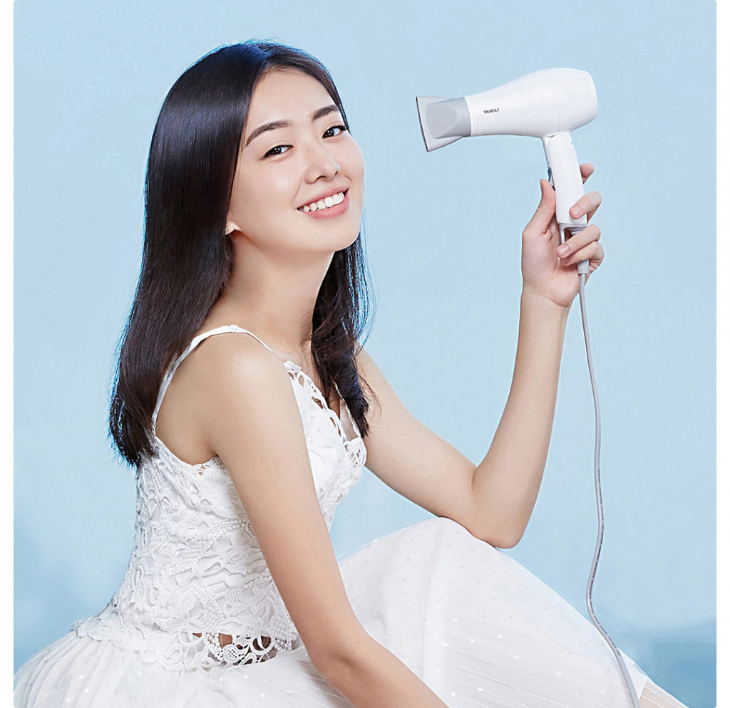 Xiaomi YueLi Travel Mini Hair Dryer (White) Фен для волос